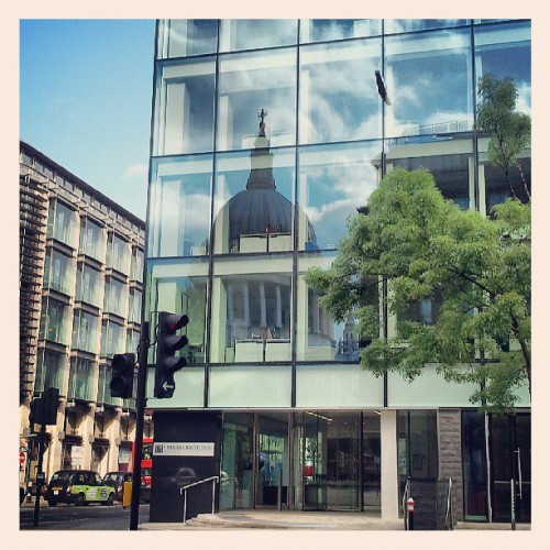 St Paul's in the reflection.  #StPauls #London #reflection #window
