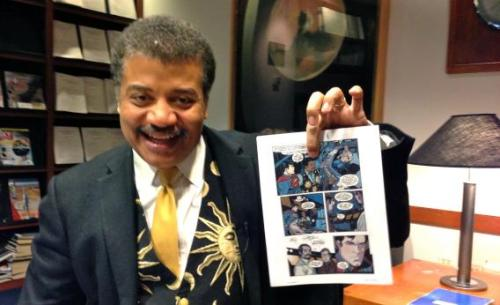 grand-motherwillow:   in which neil degrasse tyson holds up the page where he explains to superman what star the planet krypton orbits omg   Yay!