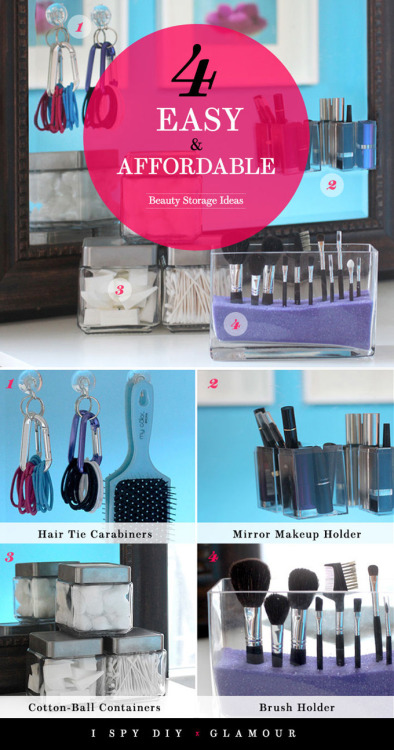 littlecraziness:  (via I Spy DIY: DIY BEAUTY | Storage Ideas for Glamour.com)