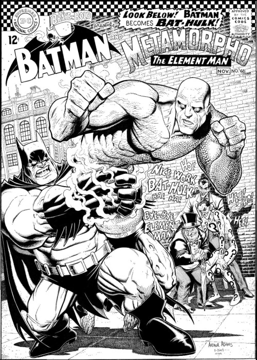 The Brave and the Bold #68 recreation by Arthur Adams