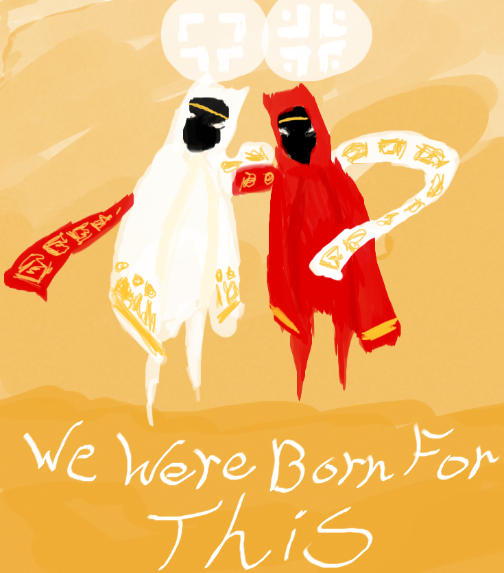 Little doodle to celebrate Journey's one year anniversary.