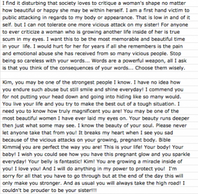 Khloe wrote this for Kim :') This is so beautiful and so true!