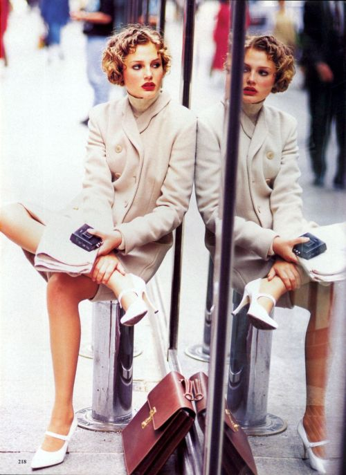 'Top Coats' from…………..Vogue August 1994 feat Shalom Harlow & Bridget Hall