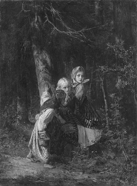 Alexei Ivanovich Korzukhin- Peasant Girls in the Forest