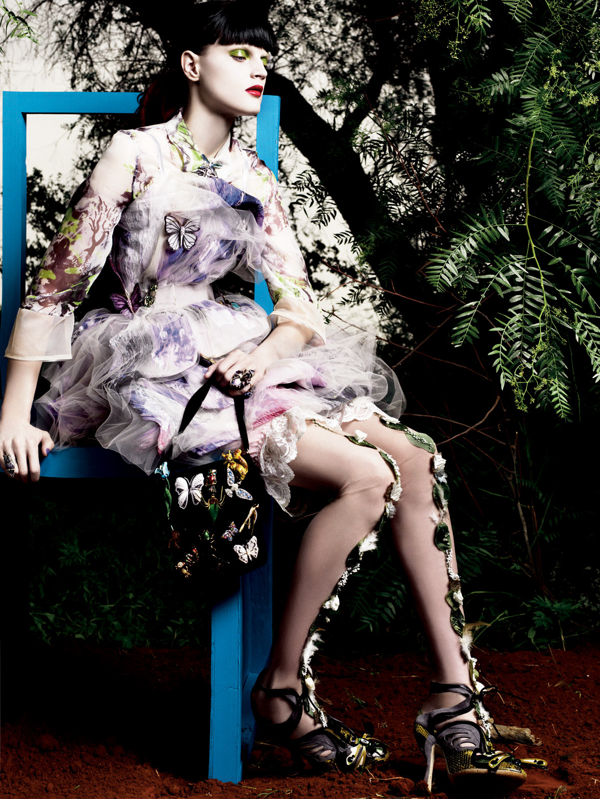 Guinevere Van Seenus: Magie De La Nature - Vogue Paris by Mikael Jansson, April 2008