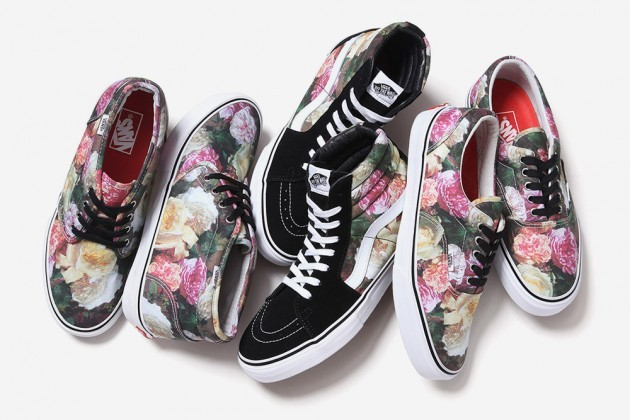 Supreme x Vans Rose Print Pack. Of course they're sold out everywhere. src