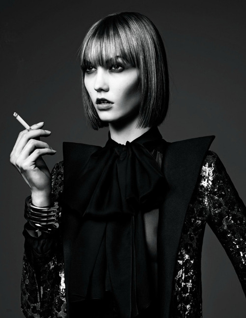 mypassionforbeauty:  Karlie Kloss // by Hedi Slimane // styled by George Cortina // Vogue Japan, June 2013