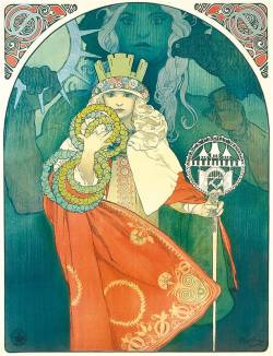 ninny-hammer:  From the poster for the 6th Sokol Festival by Alphonse Mucha.