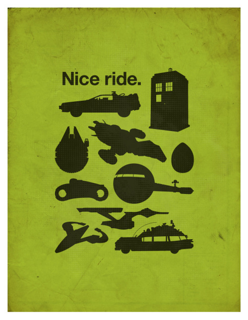 Some favorite sci-fi rides poster / shirt
