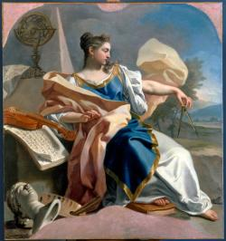 kecobe:  Francesco de Mura (Italian; 1696–1782) Allegory of the Arts  Oil on canvas, 1747–50