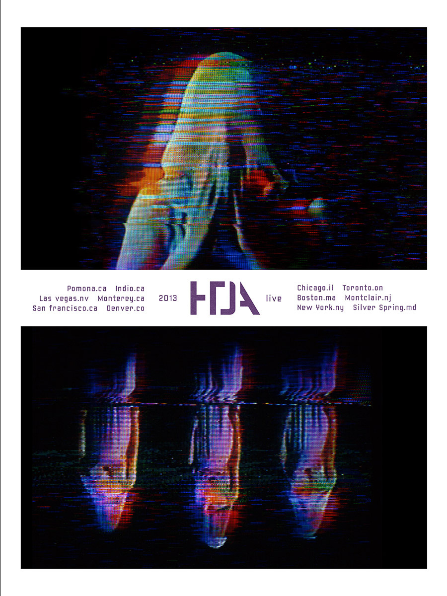 HTDA tour poster #5. From a series of six posters, sold at select shows in limited runs, including some signed by the band (only one poster variant will be available at each show). Not available at Coachella. Any posters left over will be made available in our store after the tour.