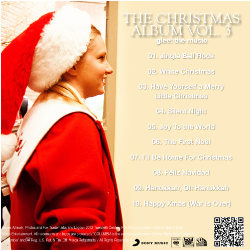 Glee: The Music, The Christmas Album Vol 3 Alternative Album Back Cover
