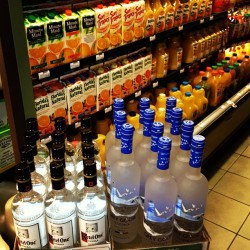 This is the only logical place to store vodka at the grocery store… Don't you think? (at Bristol Farms - Palm Desert)