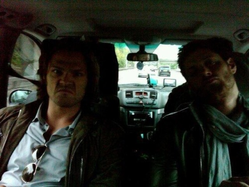 castiel-counts-deans-freckles:  actors in the morning.