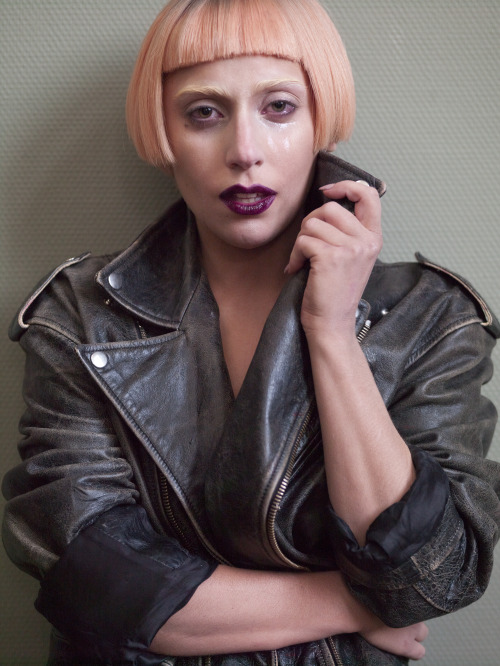 ladyxgaga:  Unretouched and colored photo of Gaga by Mario Testino for Vogue in 2011.