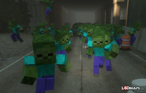 Minecraft Zombies in Left 4 Dead