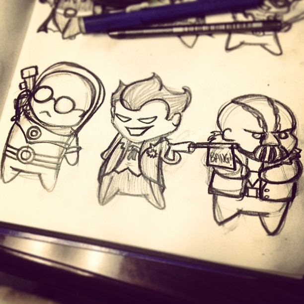 Let's kickstart the morning with Mr. Freeze, Joker, and Bane.   by Creative Tart  Store | Facebook | Instagram