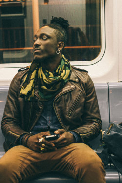 streetetiquette:  [Fashion Week Etiquette - Joshua Kissi / Subway rides ]