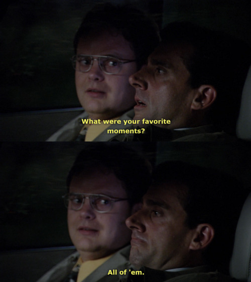 """There is a lot of beauty in ordinary things"" The Office, last episode ever. Good bye and you will be missed. Im a mess right now."