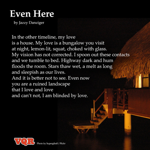 "vqreview:  ""Even Here"" by Jazzy Danziger"