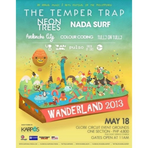 OMG!! Tickets for Wanderland go on sale at midnight!!! You guys can buy them from SM Tickets, Ticketnet and Ticketsworld! @karposmm @wanderlandfest #KarposWanderland2013