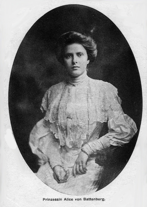 royalwatcher:  HSH Princess Alice of Battenberg, later HRH Princess Andrew of Greece and Denmark.  Mother of Prince Philip, Duke of Edinburgh.  Princess Alice was actually really remarkable. When she was a toddler her parents realized that she was deaf, but her mother Princess Victoria of Battenberg taught her to read lips and she was instructed not to interrupt if she did not understand a conversation. She was told to wait until she picked it up again herself. She was able to function so normally that most people had no idea that she could not hear!