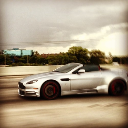 This #Aston #Martin #Vantage #Roadster is about to hit 88 mph, and dominate some future! #astonmartin