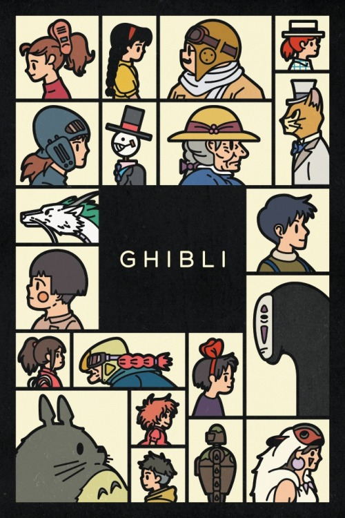 epikhi:  Ghibli Poster for Calgary Comic Expo 2013