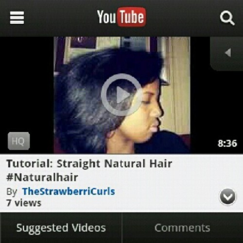 vivalavoiz:  New Youtube Vid Upload! My Straight #Naturalhair Tutorial YouTube.com/TheStrawberriCurls (at YouTube.com/TheStrawberriCurls)  Instagram: Strawberricurls