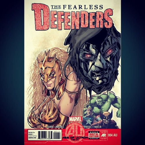 #FearlessDefenders #DoctorDoom's head guest stars? #Hulk #Wolverine #CaptainAmerica just watch, they're funny like that… #ThingsYouCanTellJustByLookingAtAComicCover #JustHereInThisBookForDaPayCheck! #CyclopsGetsNoRespect #Marvel #MarvelNow #Comics #ComicBooks #comicbooklegion