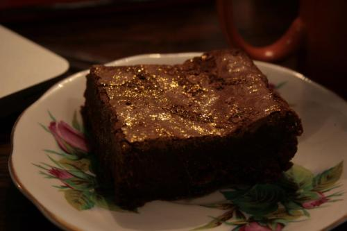 Day 15: Super glitter gooey lovely brownie from The Marvellous Tea Room at Bird's Yard!