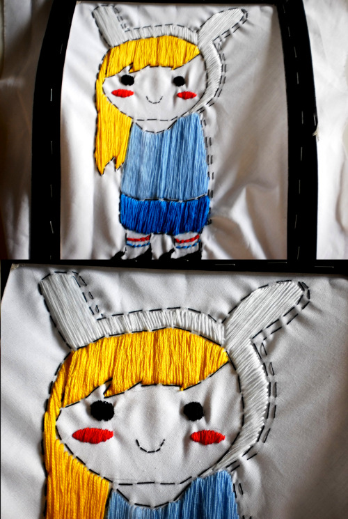 Fionna embroidery Submitted by http://sapplejack.tumblr.com/