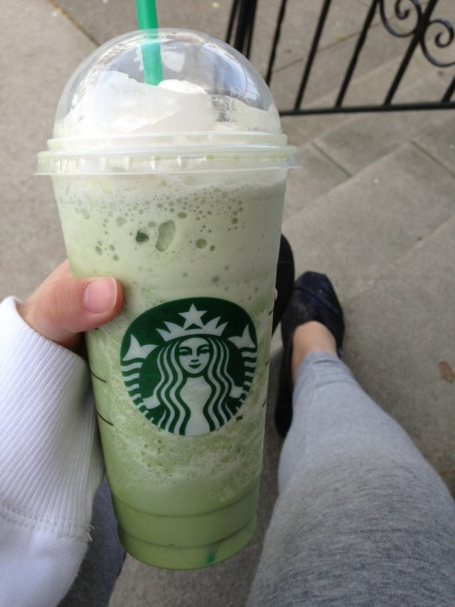 green tea frap oh my god gimme