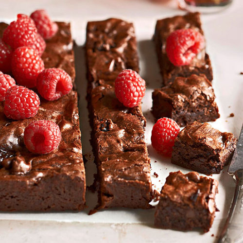"Fudgy Cherry and Port Brownies: One editor referred to these rich, dense raspberry-topped chocolate delights as ""the perfect brownie."""