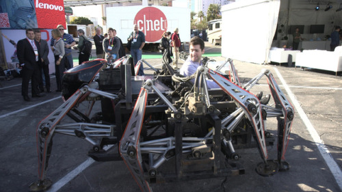 What it's like to drive a 1600-pound mechanical spider Ellis Hamburger goes for a ride.