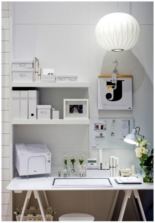 white workspace (via pinterest)