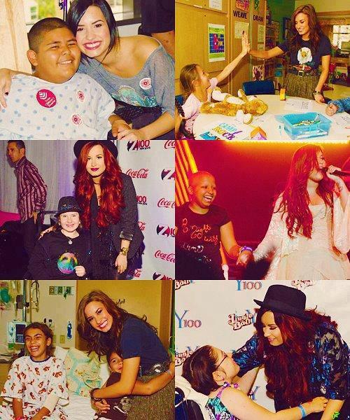 chelseaalockkk:  Demi Lovato is such an angel<3 I love her soo much even though she's famous she still finds time to help people such an inspiration:)<3