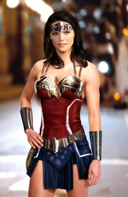 "Someone photoshopped Thor's Jaimie Alexander as Wonder Woman. If only this would happen for real. Here's what the actress has had to say about Wonder Woman in the past: ""If you're going to make Wonder Woman, make it like The Bourne Supremecy, you know. Let's do something awesome like that. Like Alias was a fantastic show. Why can't we do that? Why does she have to be in hot pants and spandex and all this stuff?"""
