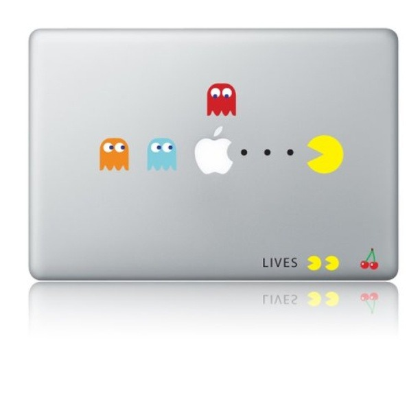 Get retro with this Pacman Macbook decal