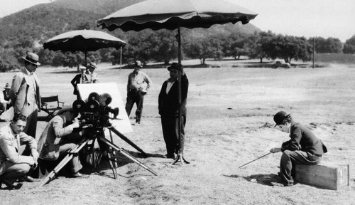"the-little-tramp:  Charlie Chaplin filming the beautiful ending to The Circus (1928). I'm always so proud of him when I watch this film. Knowing all the things that were going on in his life, with his divorce and the set burning down. The fact that he finished it is a miracle and just another testament to his perseverance.  The thing that strikes the most about this scene is how thin and the weight he had lost, Charlie was a little small boned man so was naturally thin but all of the personal and professional issues he had in 1926 and 1927 was written all over his face. Despite that this was one of the most poignant scenes in cinema history and really captured the spirit that was essence of his creation ""the little tramp"" He would look much more robust in his second film ""CITY LIGHTS"""