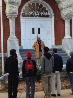 Giving prospective students an impromptu tour of Morehouse during Founders Weekend 2013.