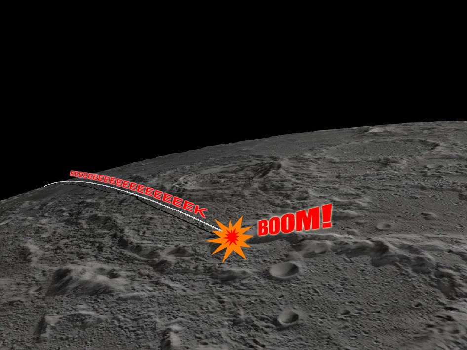 discoverynews:  Two NASA satellites crashed into the moon today. But it was no accident. Read more: Success! NASA's GRAIL Probes Crash into the Moon