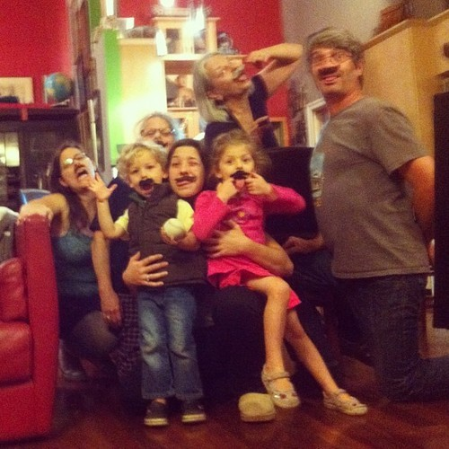 The family that mustaches together…