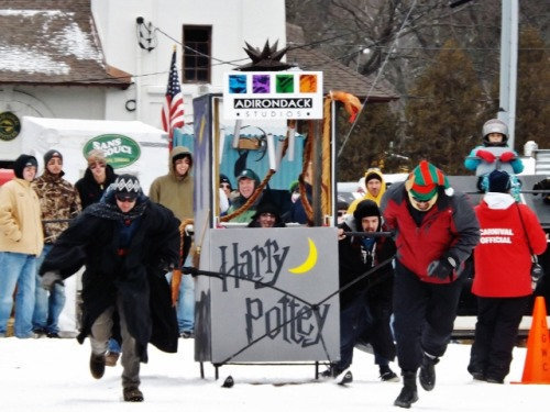 Outhouse races Lake George Winter Carnival Lake George, N.Y. February 2, 2013