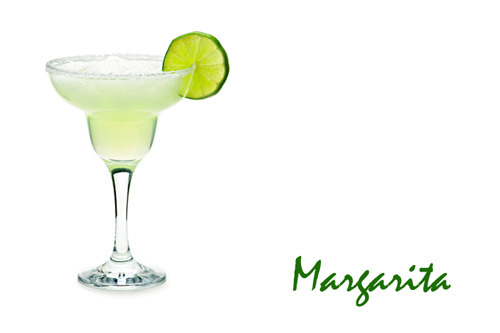 Real Margarita with three classic ingredients tequila, orange liqueur & lime juice.
