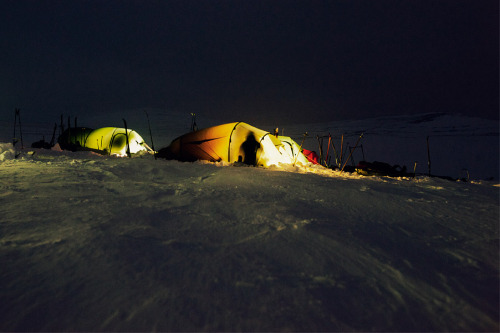 First night in Rondane national park, Norway.