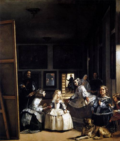 centuriespast:  VELÁZQUEZ, Diego Rodriguez de Silva yLas Meninas or The Family of Philip IV1656-57Oil on canvas, 318 x 276 cmMuseo del Prado, Madrid