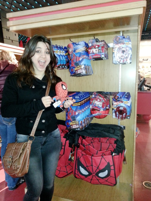 Spider-man stuff at FAO Schwarz.