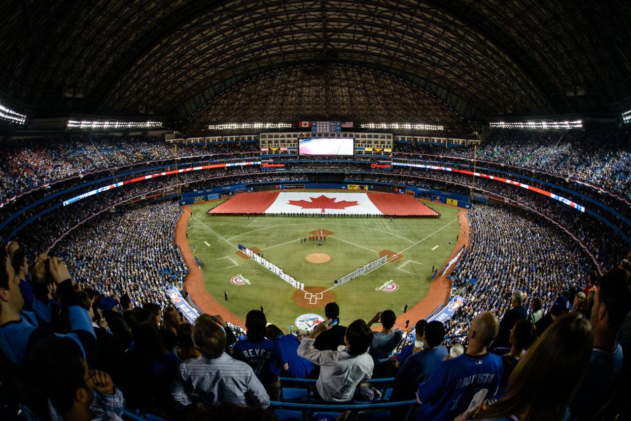 torontobluejays:  Opening Day Ceremonies.                  Today is a great day. Happy Opening Day