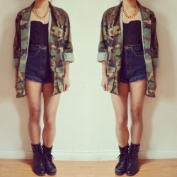 "fashionpassionates:  Get the jacket: MILITARY CAMO JACKET Shop FP | Fashion Passionates ""get your fashion fix with fashion passionates"